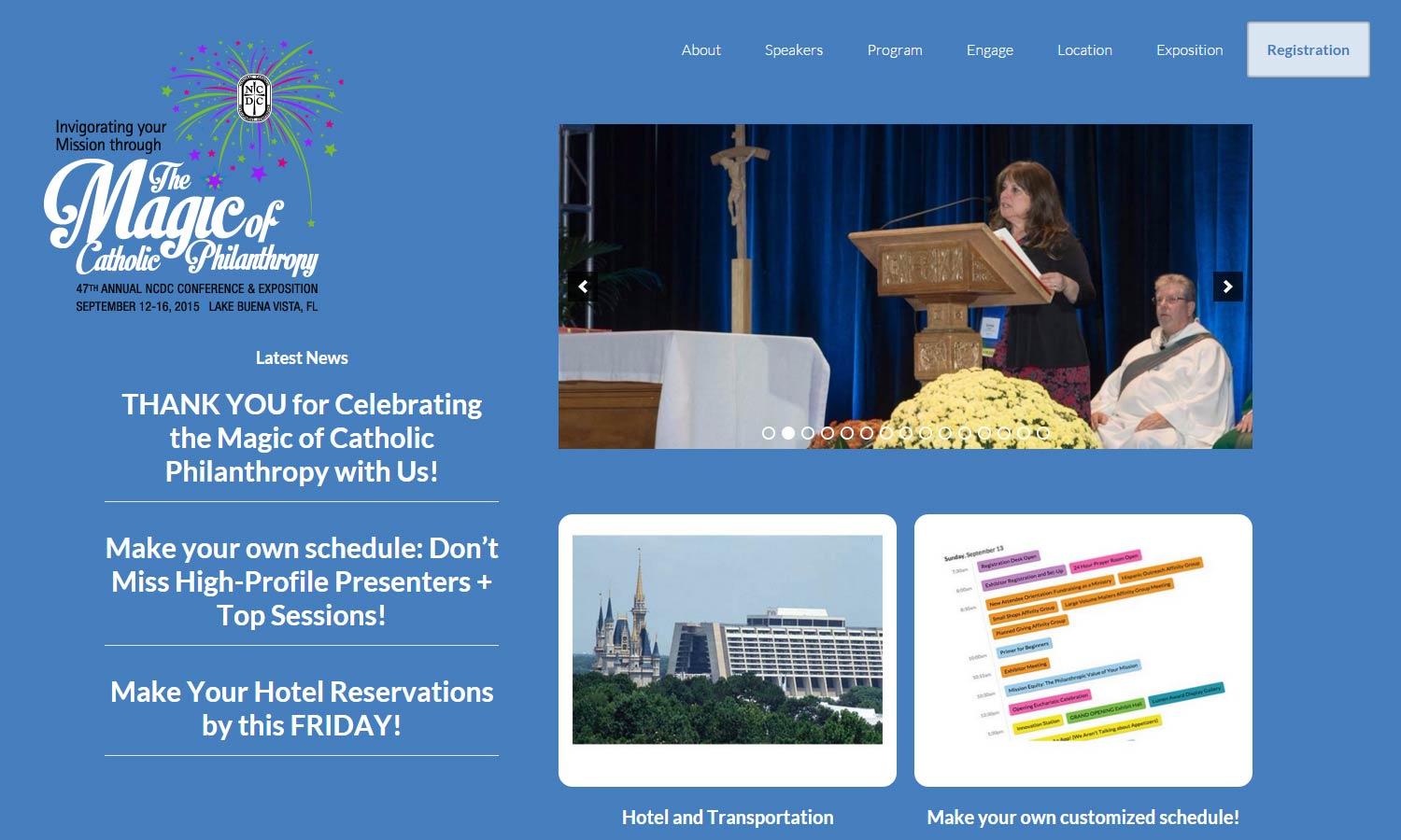 National Catholic Development Conference Site