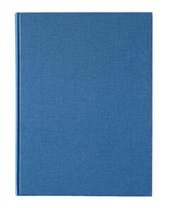 Blue book cover on white background.