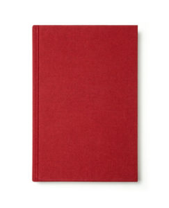 Red book with blank cover isolated.